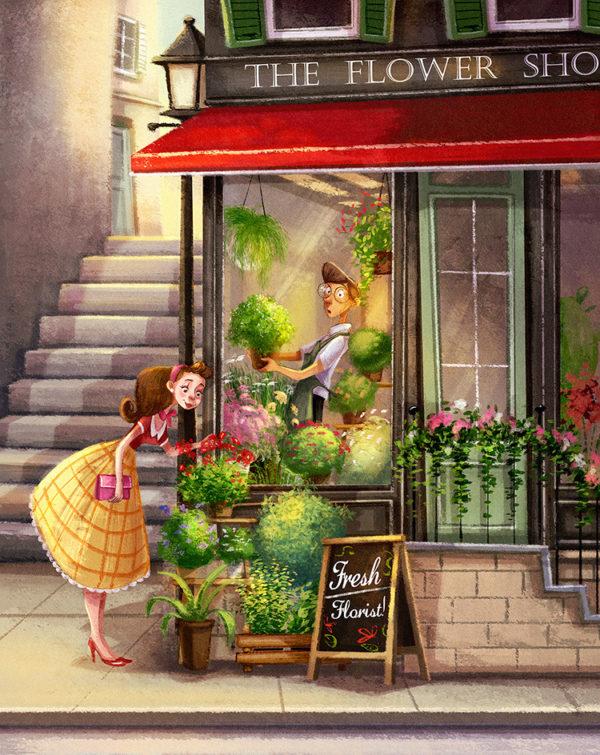 flower shop color