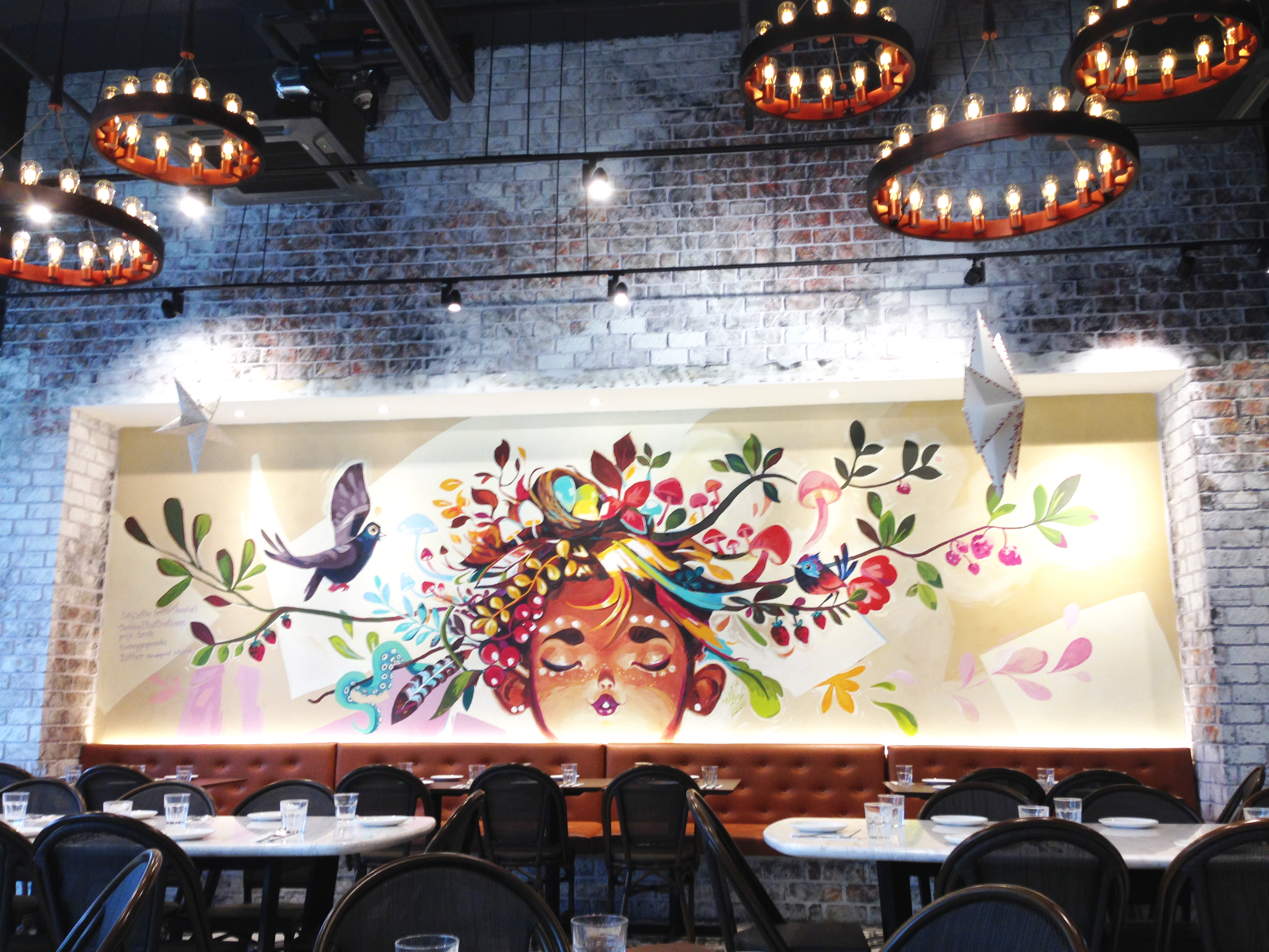 SillyJellie Mural – Bonfire Restaurant (starling Mall)