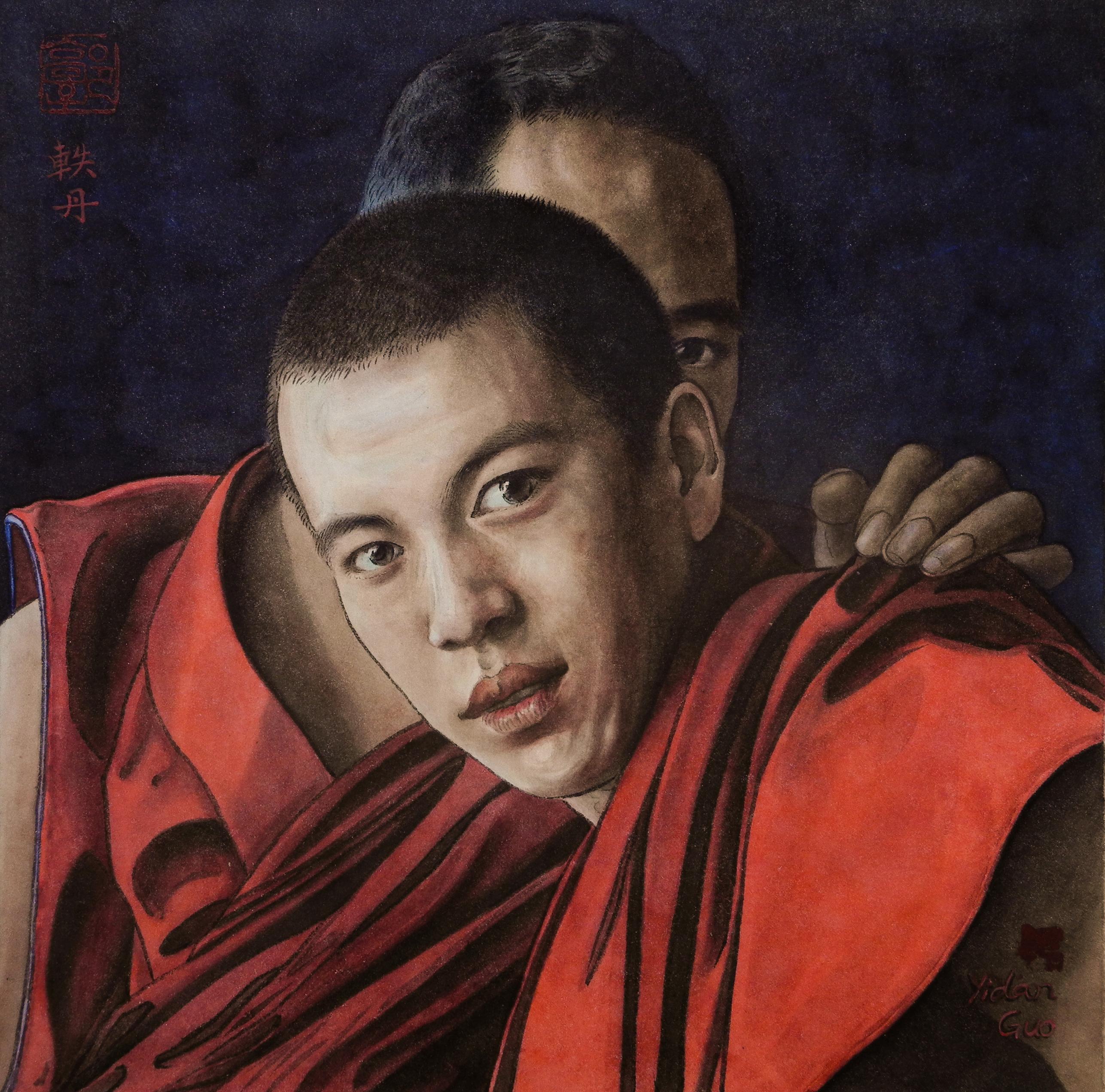 Chinese Painting_Tibetan Monks