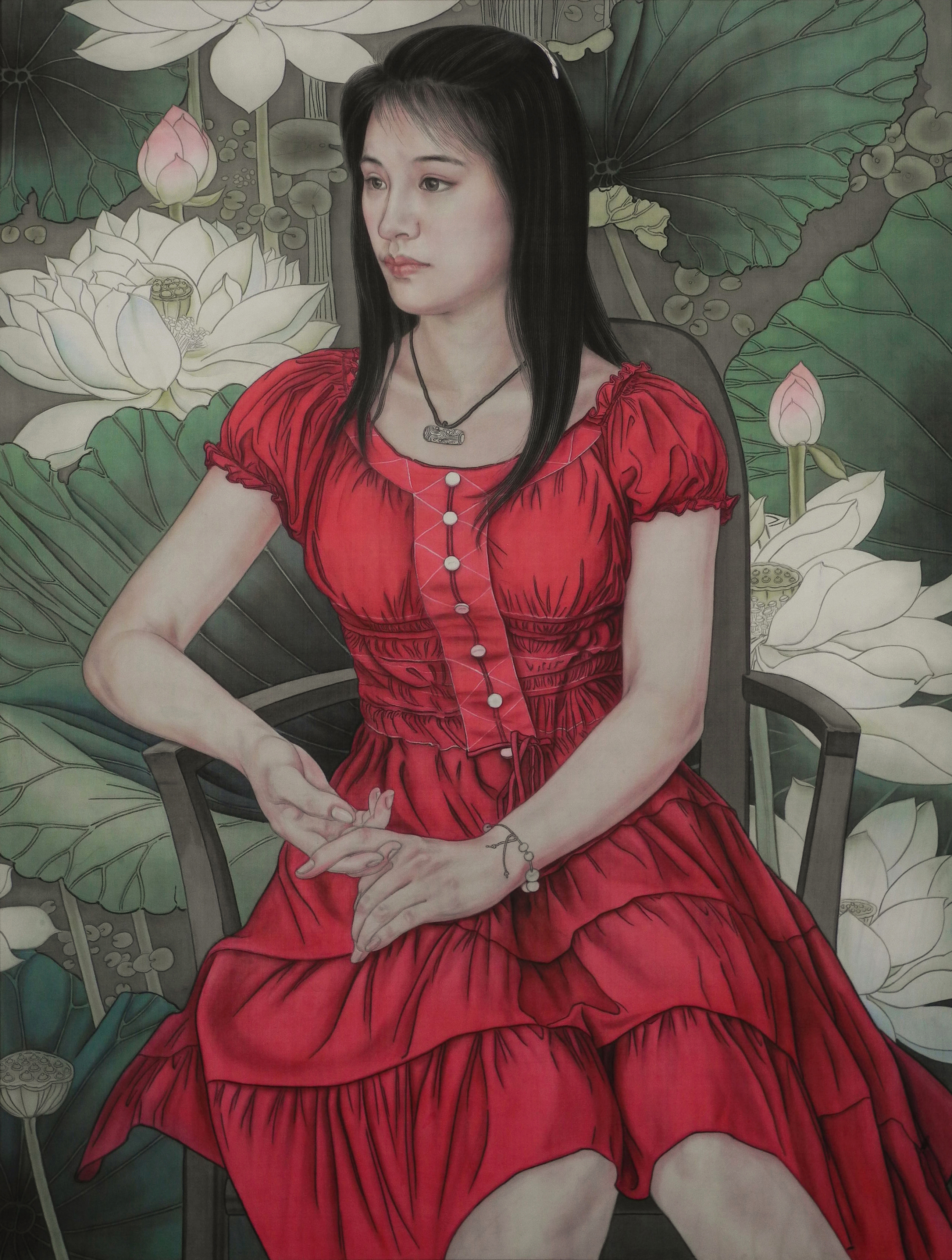 Chinese Painting_The Summer Days Series – Red 2015
