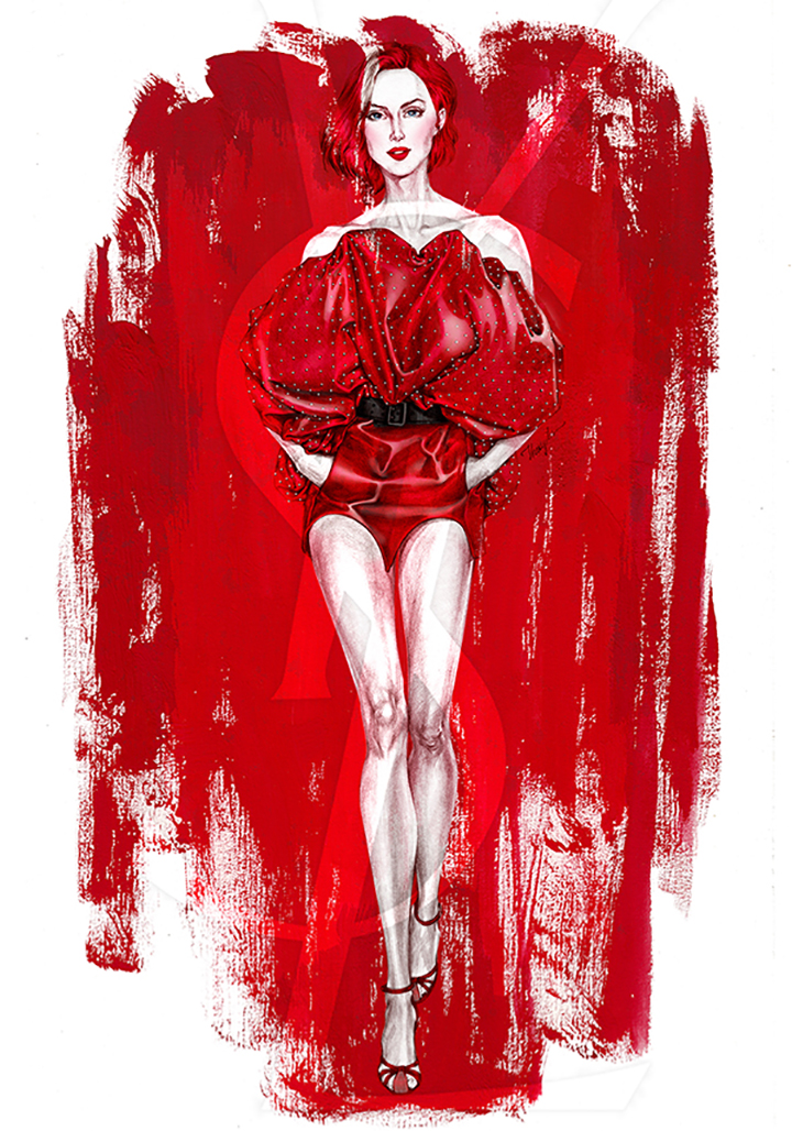 Bui Thuy An- The red YSL
