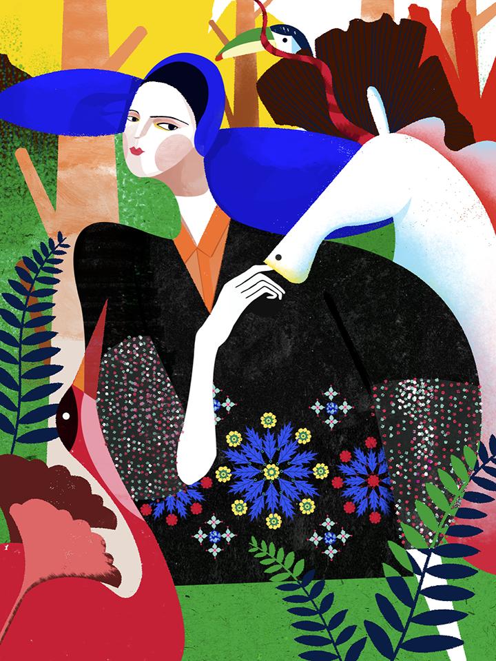 GirlsclubAsia-Illustrator-DecueWu-1_Delpozo FW15, 2016, digital