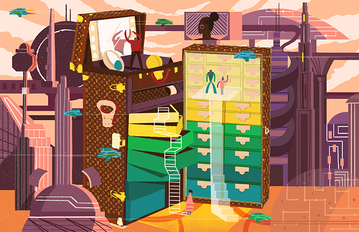 GirlsclubAsia-Illustrator-DecueWu-10_LV open suitcase - Fantasy city