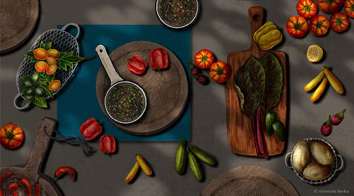 My Kitchen spread