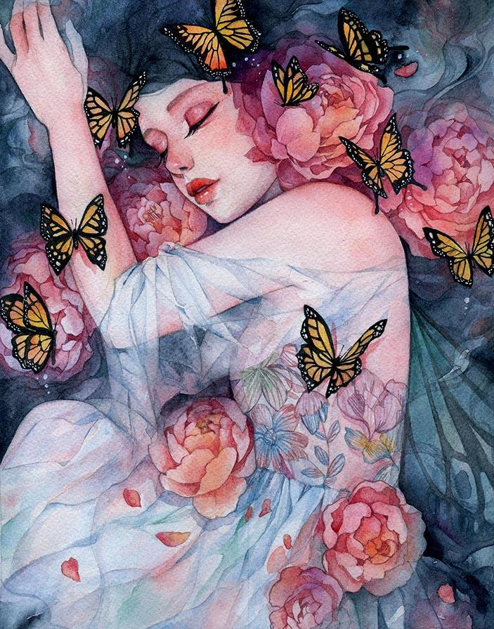 4-Sleeps with Butterflies