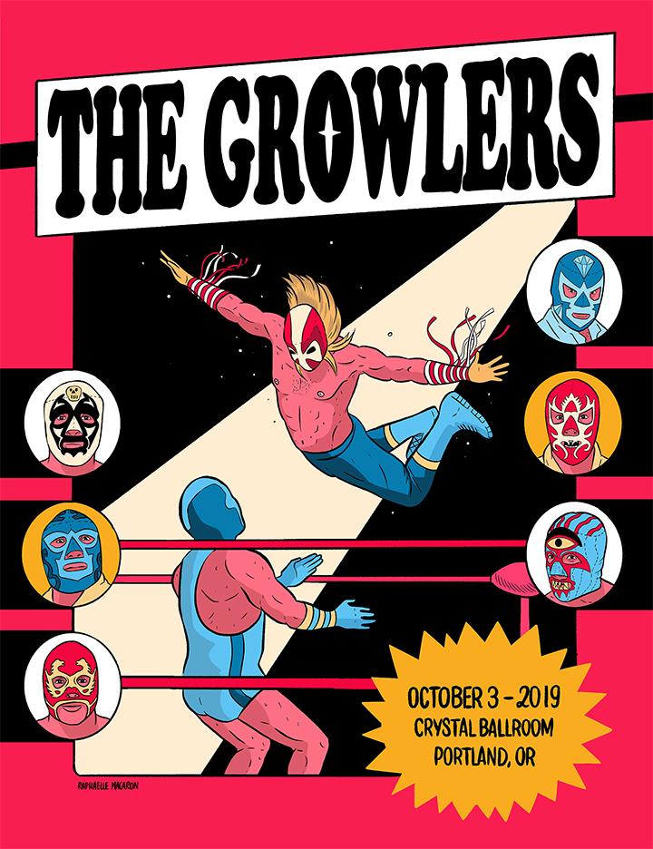 TheGrowlers tour poster