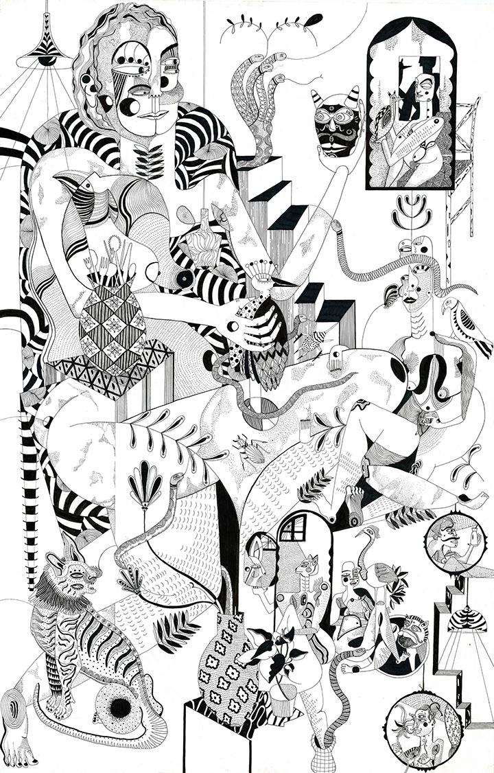 GirlsclubAsia-Artist-TariniSethi_SnakesAndLadders