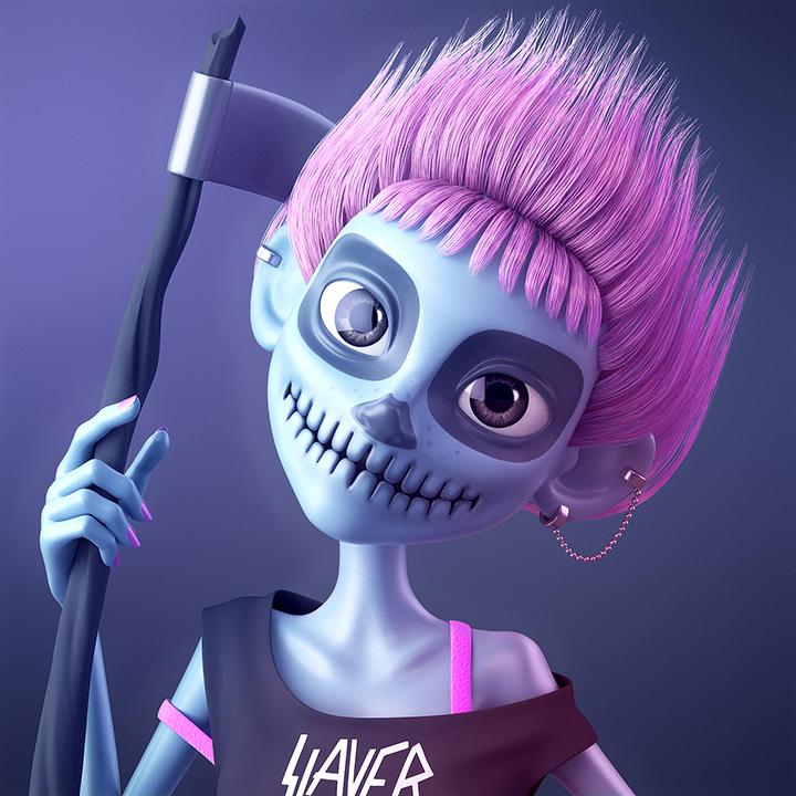 GirlsclubAsia-Artist-Alina-Balgimbayeva-Halloween_girl_HD