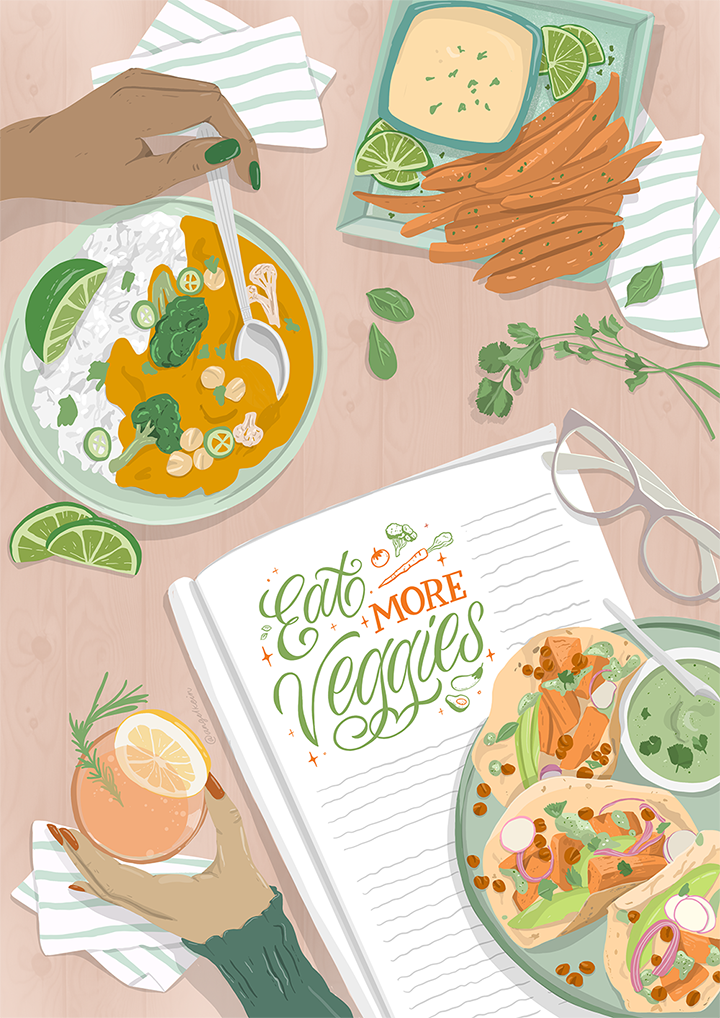 GirlsclubAsia-Artist-AngelKein-Work-3-EatMoreVeggies