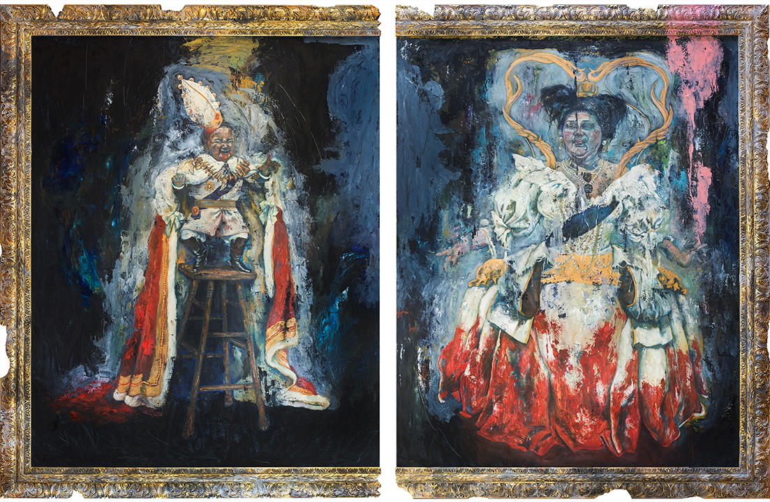 GirlsclubAsia-Artist-Isobel-Francisco-King and Queen of Hearts - 4 x 5 ft each - oil on canvas - 2016