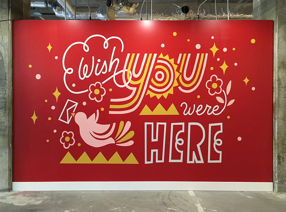 GirlsclubAsia-Artist-Ann-Chen-Wish You Were Here Mural