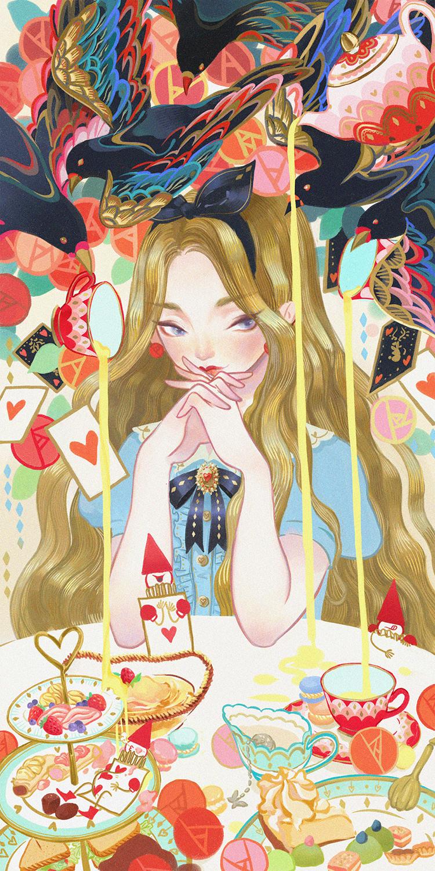 GirlsclubAsia-Artist-Kuri-Huang-Alice in the Afternoon Tea World