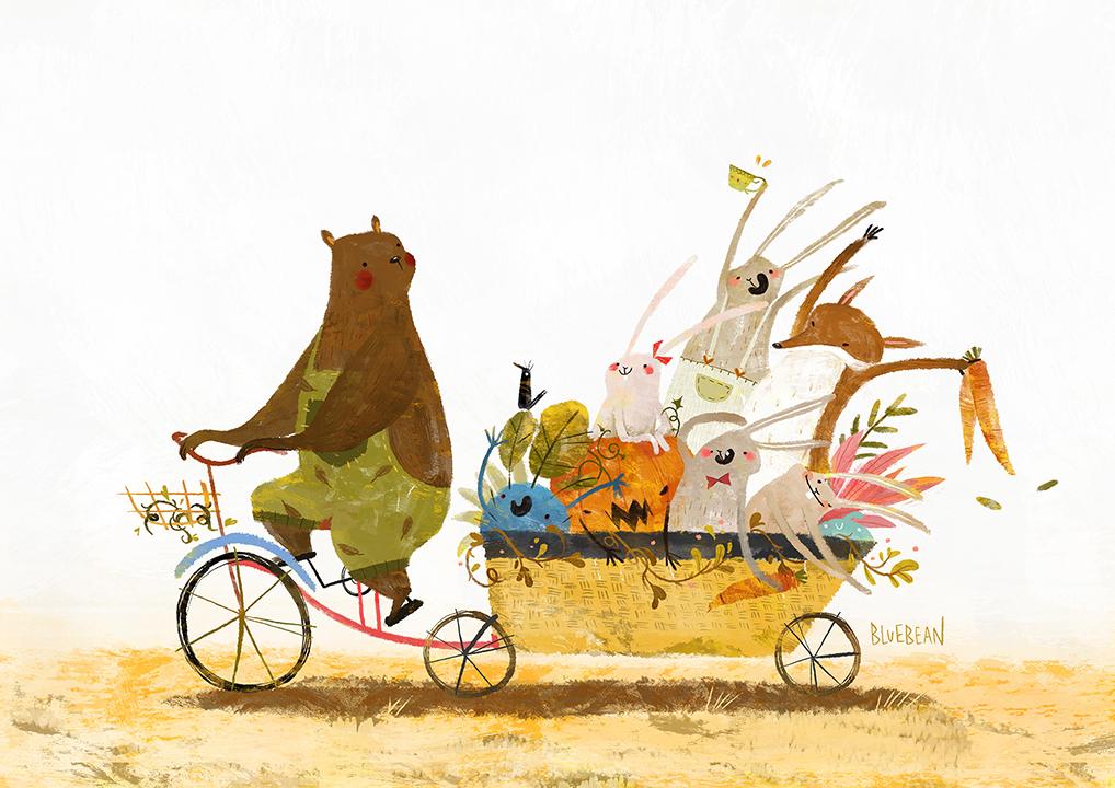 GirlsclubAsia-Artist-Bluebean-Bunny_bike_party