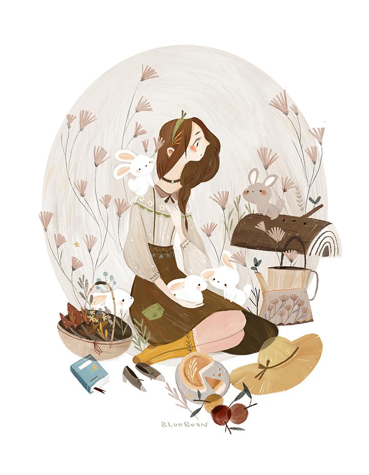 GirlsclubAsia-Artist-Bluebean-Autumn picnic