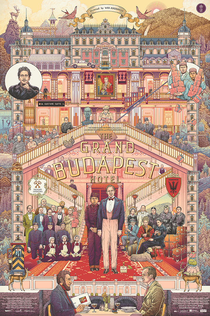 GirlsclubAsia-Artist-Ise-Ananphada-GrandBudapestHotel-Poster-Wes Anderson