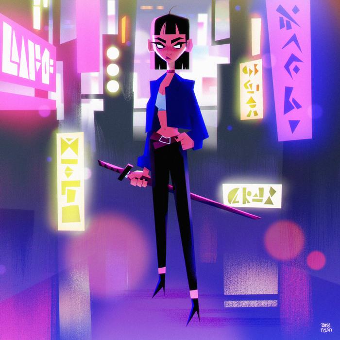 GirlsclubAsia-Artist-AmyNguyen-Vietnam-Illustration-okyo-night