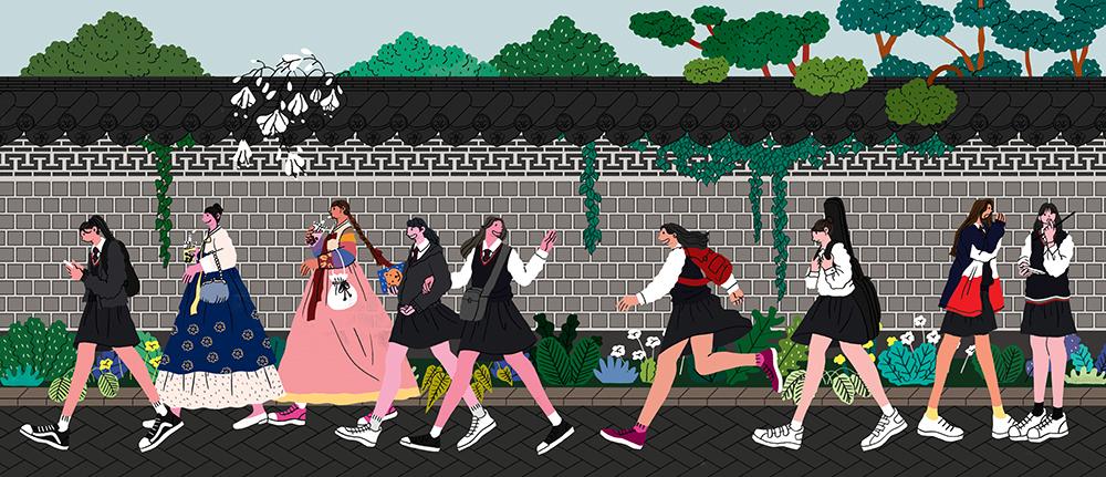 GirlsclubAsia-Artist-Hye-Jin-Chung-korhighschoolgirlsatbookchon