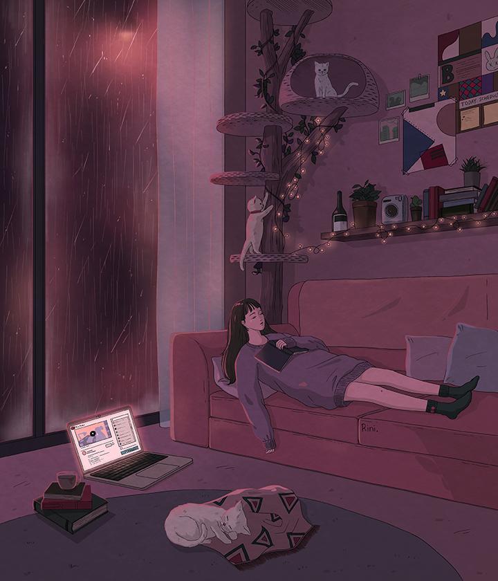 girlsclub-asia-rini-A rainy evening