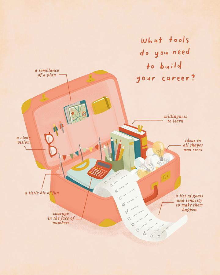 girlsclub-asia-ella-lama-creative-career-roadmap-suitcase
