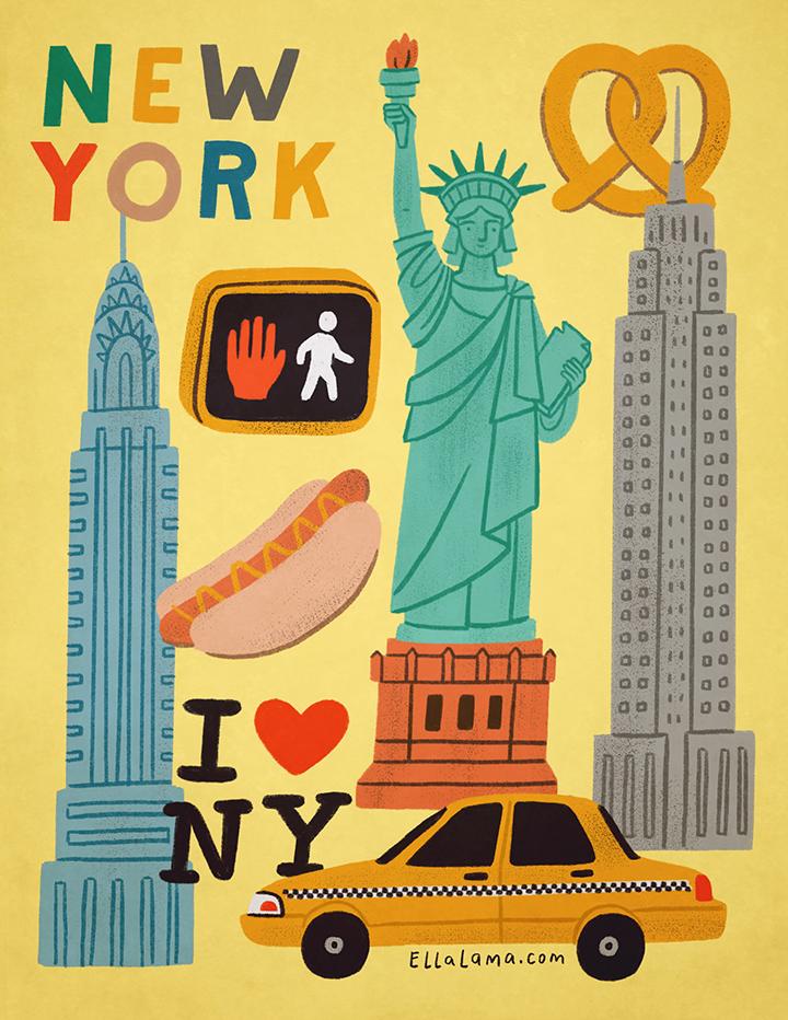 girlsclub-asia-ella-lama-city-poster-new-york-pastel