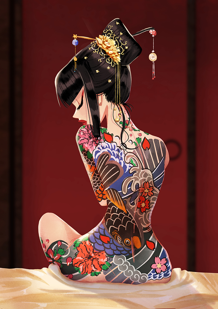 girlsclubasia-wendy-tan-shiau-wei-tattoo_japanese_geisha_Patterns