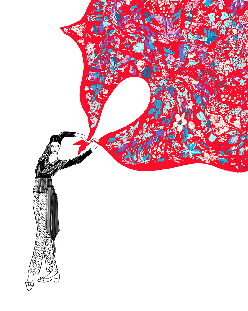 Girlsclub-Asia-Lily Qian-Salvatore Ferragamo fashion illustrator