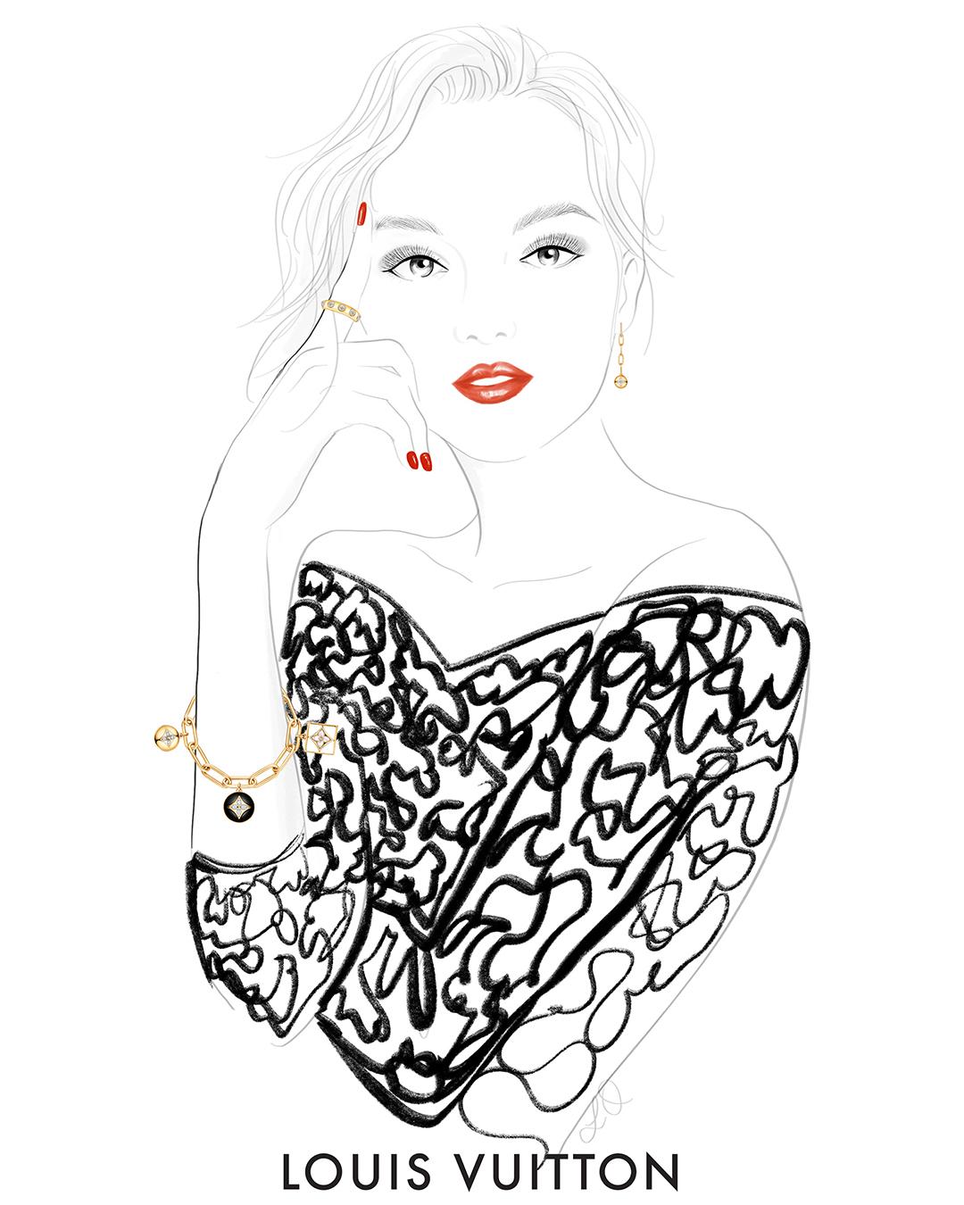 Girlsclub-Asia-Lily Qian-Louis Vuitton - Fashion illustrator