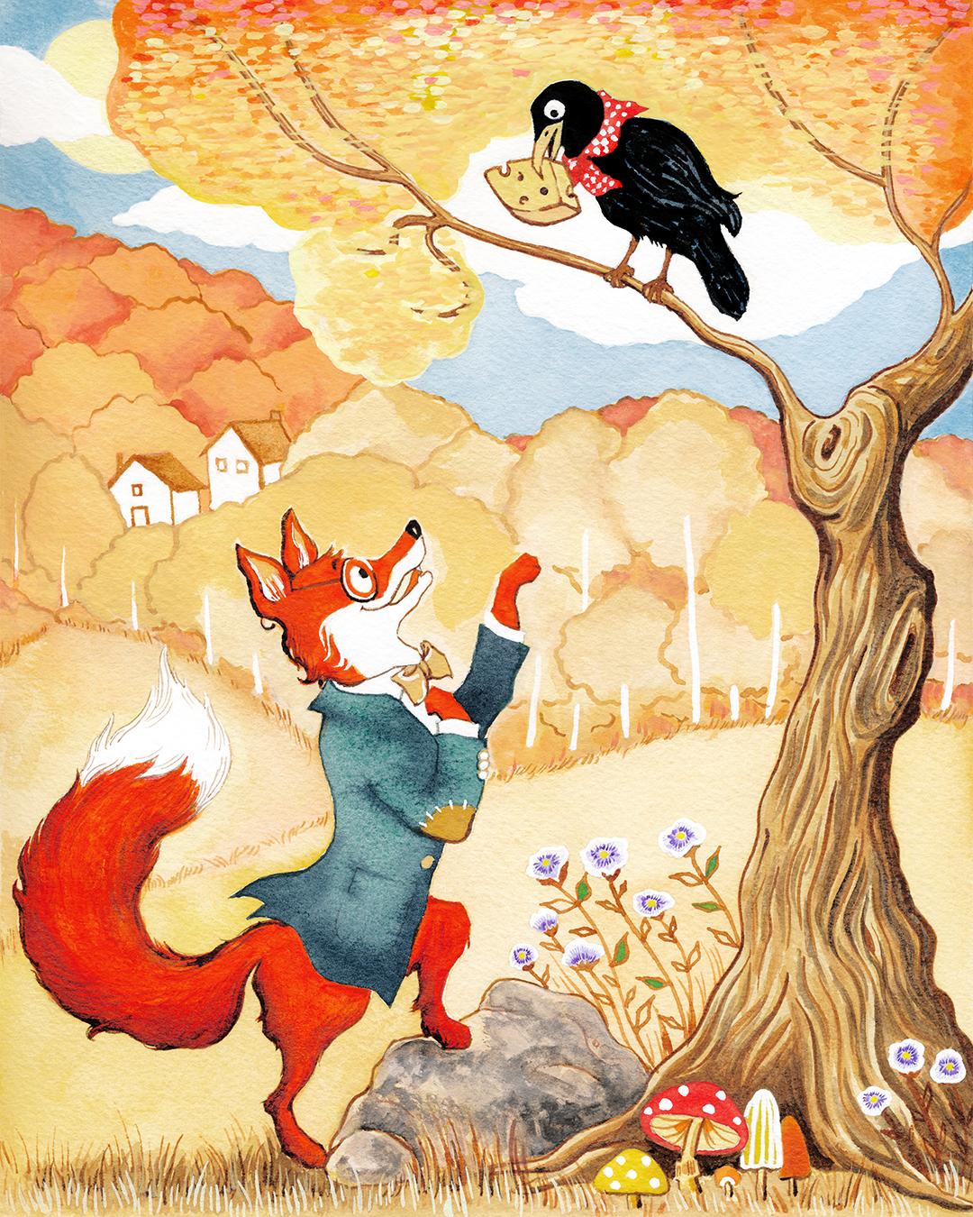Girlsclub-Asia-12_LilyQian_illustration_The Fox and the Crow