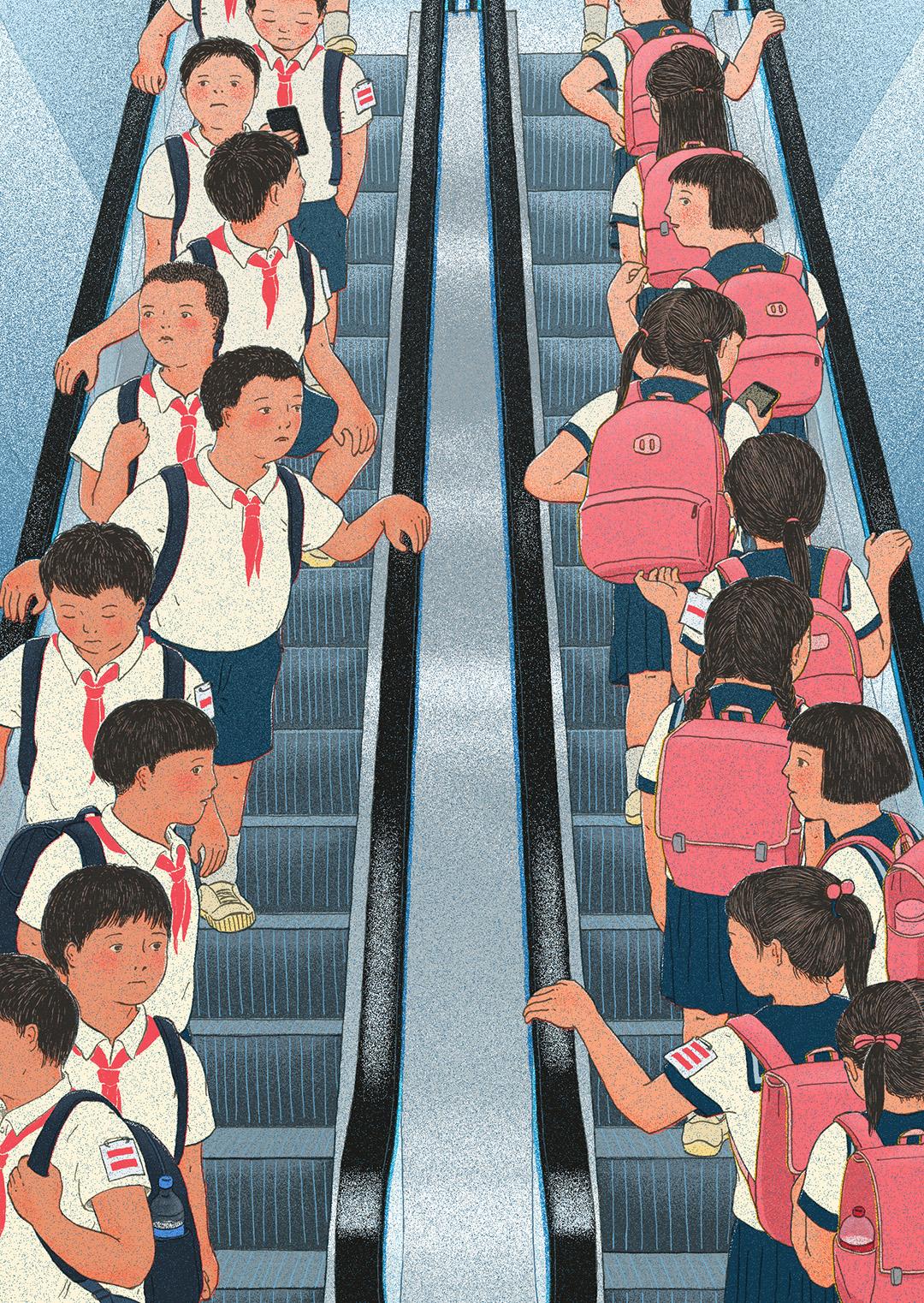 GirlsclubAsia-Xinmei-Liu-escalator