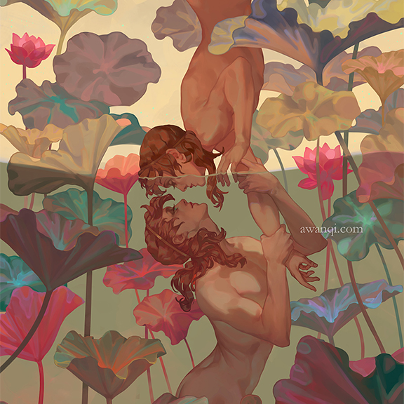 Girlsclubasia-Artist-Illustrator-Angela Wang-narcissus for internet-2