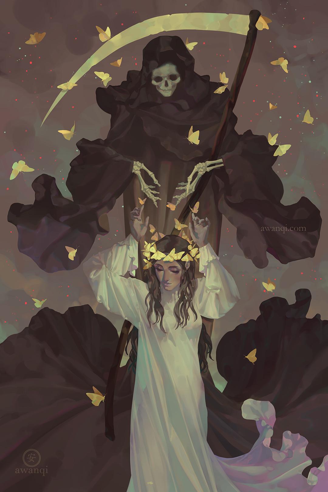 Girlsclubasia-Artist-Illustrator-Angela Wang-crown of souls internet