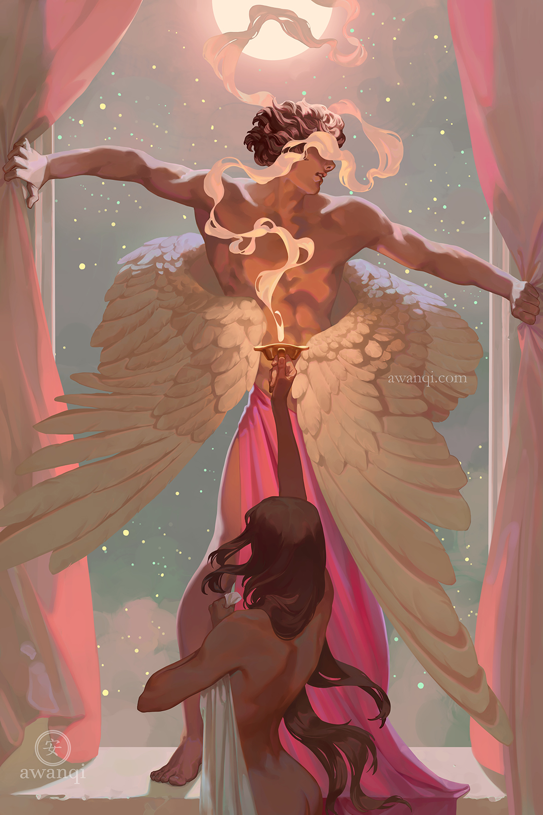 Girlsclubasia-Artist-Illustrator-Angela Wang-eros and psyche for internet