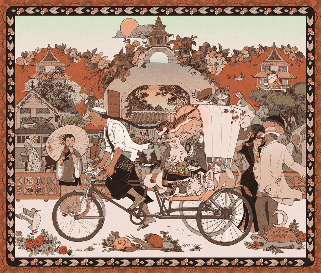 GirlsclubAsia-Illustrator-Vikki Zhang-garden1910_1