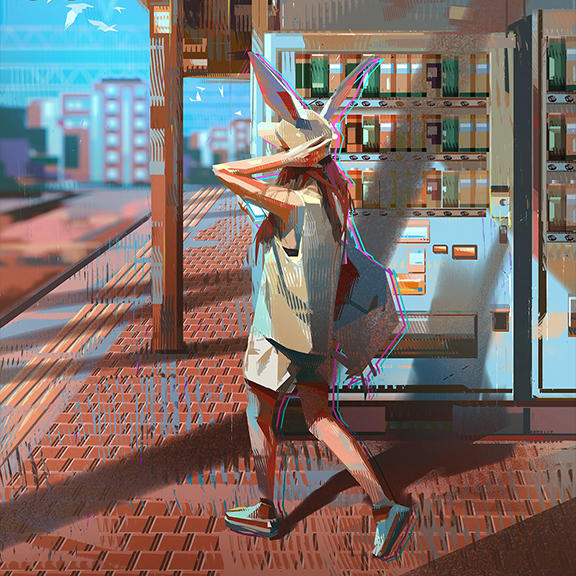 GirlsclubAsia-Illustrator-Donglu Yu-Bunny_at_Train_Station_Hires-cover