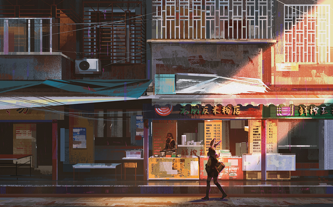 GirlsclubAsia-Illustrator-Donglu Yu-FoodStand_Hires