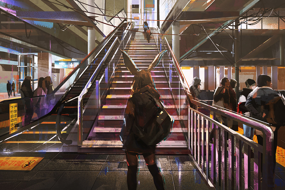 GirlsclubAsia-Illustrator-Donglu Yu-TrainStationStairs_Hires