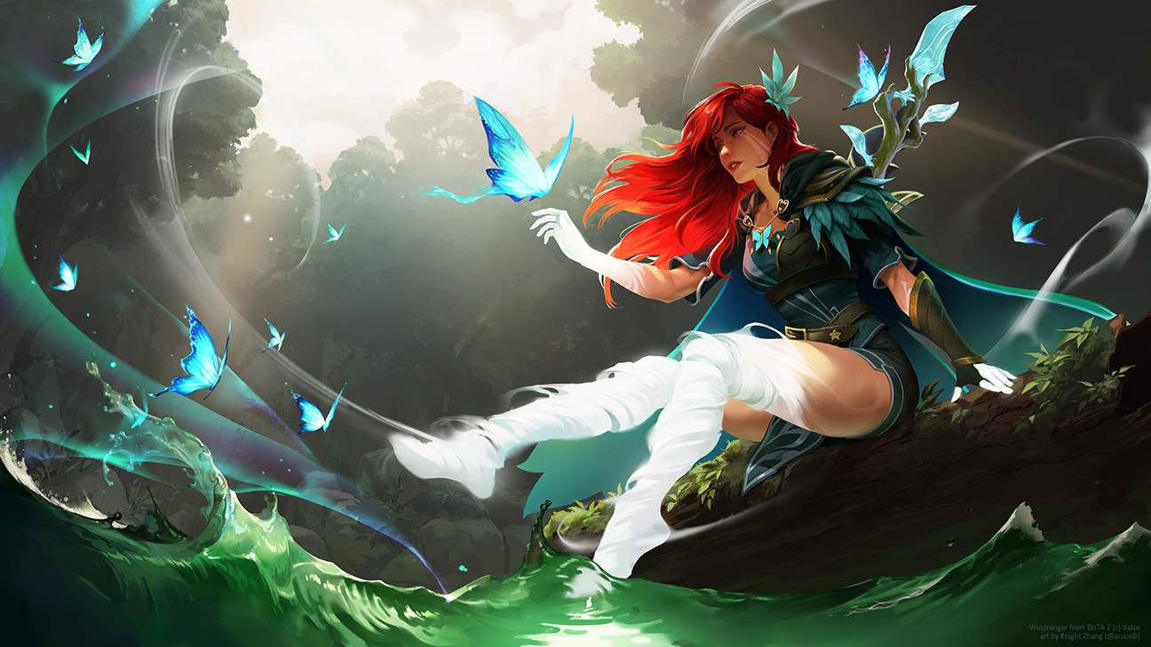 GirlsclubAsia-ConceptArtist-Illustrator- Knight Zhang-DoTA2_windranger