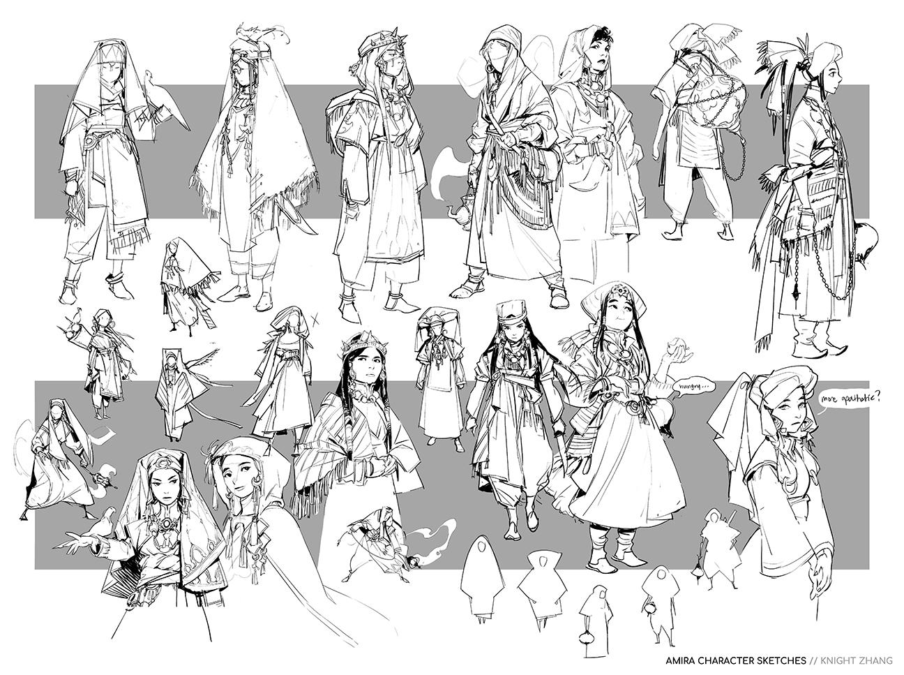 GirlsclubAsia-ConceptArtist-Illustrator- Knight Zhang-KnightZ_Amira Sketch_01