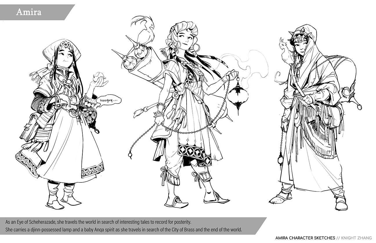 GirlsclubAsia-ConceptArtist-Illustrator- Knight Zhang-KnightZ_Amira Sketch_02