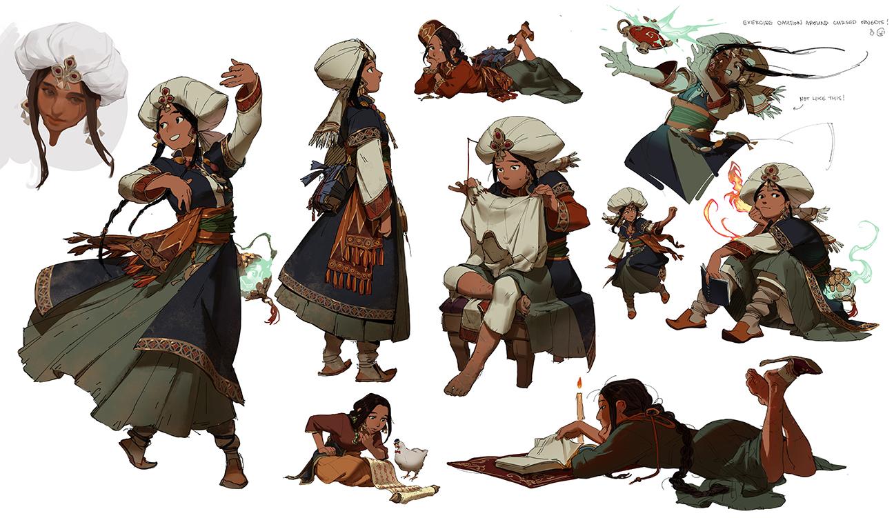 GirlsclubAsia-ConceptArtist-Illustrator- Knight Zhang-KnightZ_Amira Sketch_04