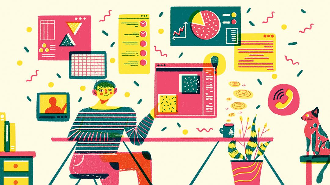 GirlsclubAsia-Illustrator-Nadya Noor-Masih Perlukah Kita Ke Kantor?