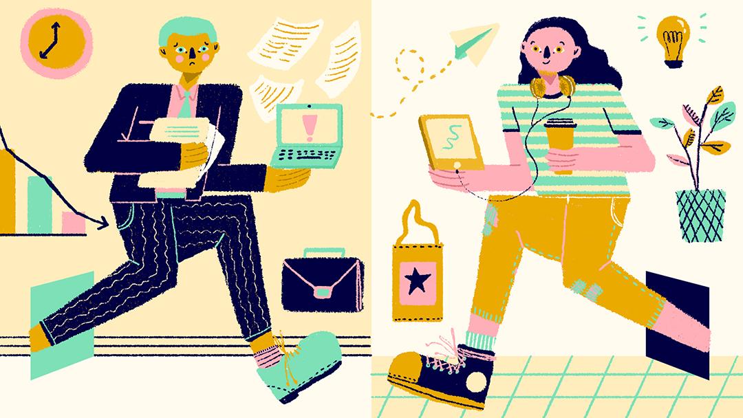 GirlsclubAsia-Illustrator-Nadya Noor-Melihat Kultur Kerja Baru Ala Millenial