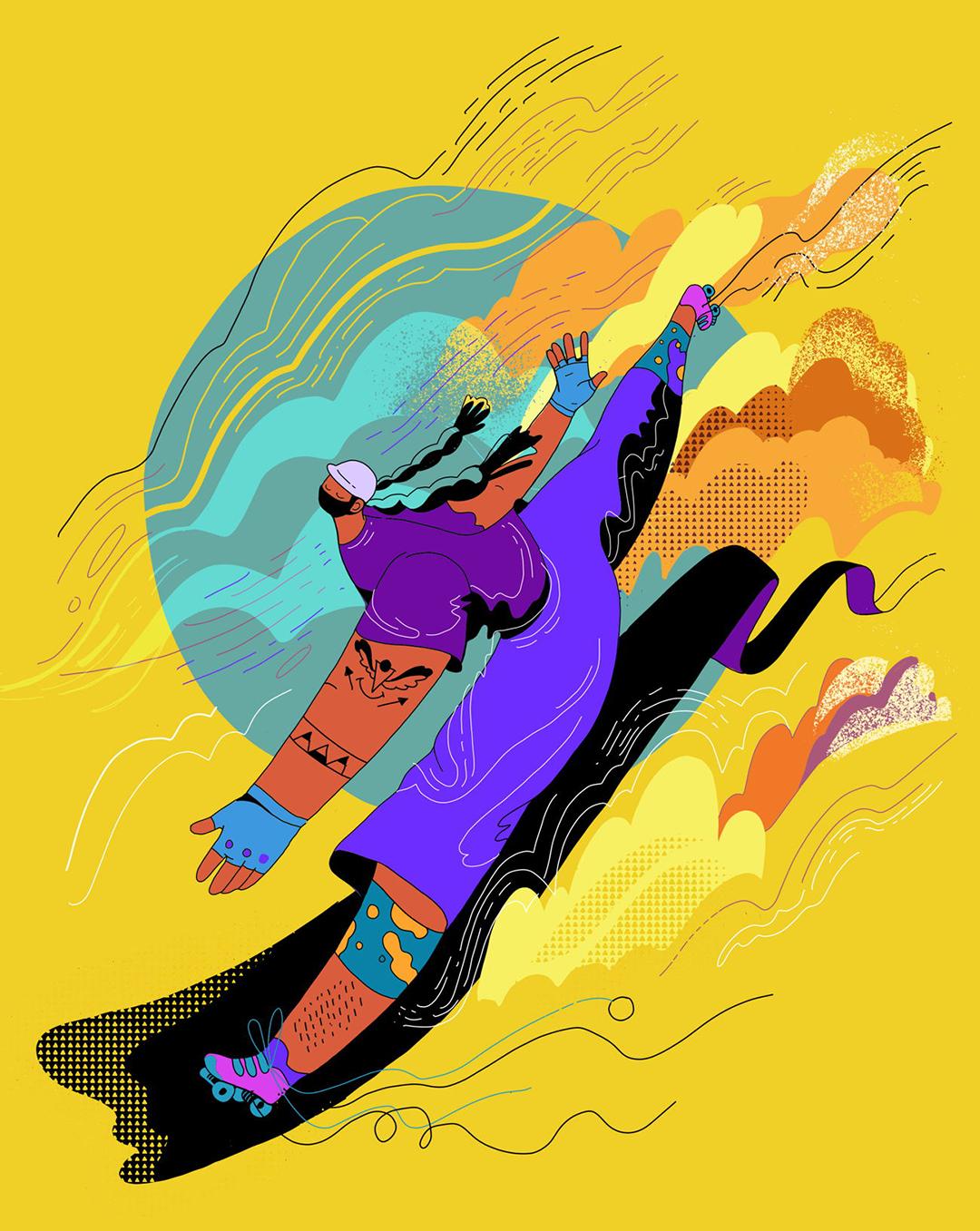 GirlsclubAsia-Illustration-Animation-Lilian Darmono-Skater