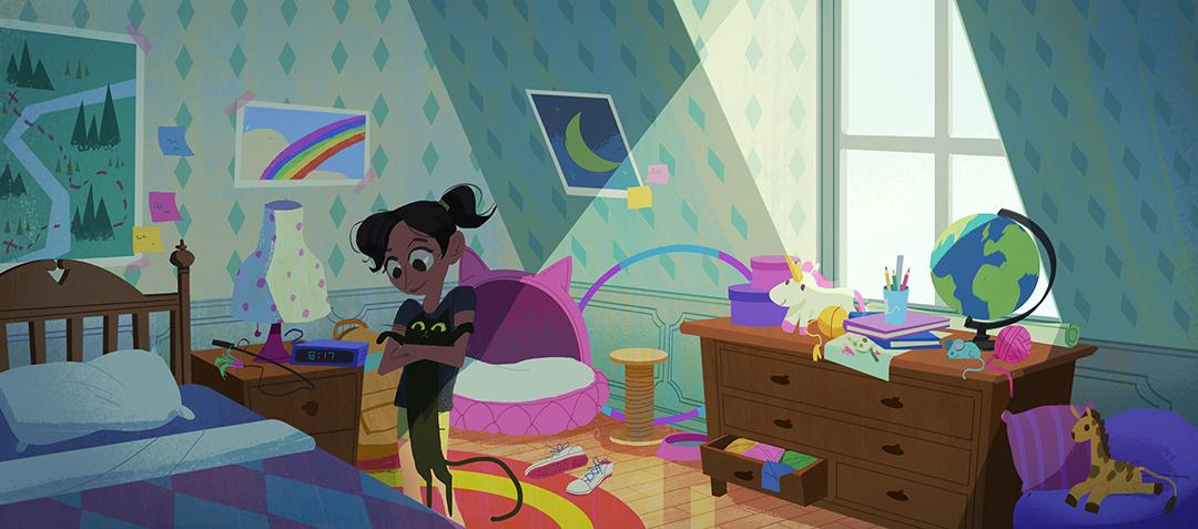 GirlsclubAsia-Illustrator-Tidawan-Thaipinnarong-bedroom