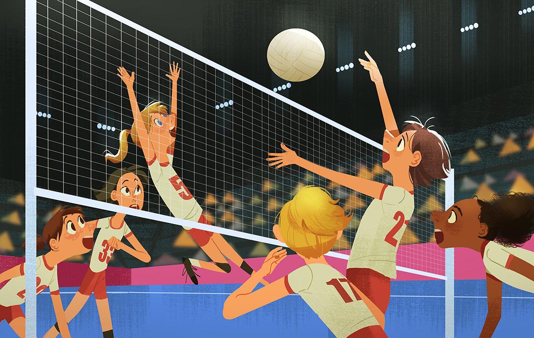 GirlsclubAsia-Illustrator-Tidawan-Thaipinnarong-volleyball