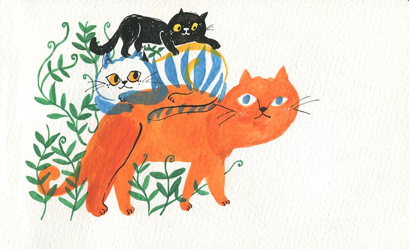 GirlsclubAsia-Illustrator-Cindy_Wume-cats, 2018