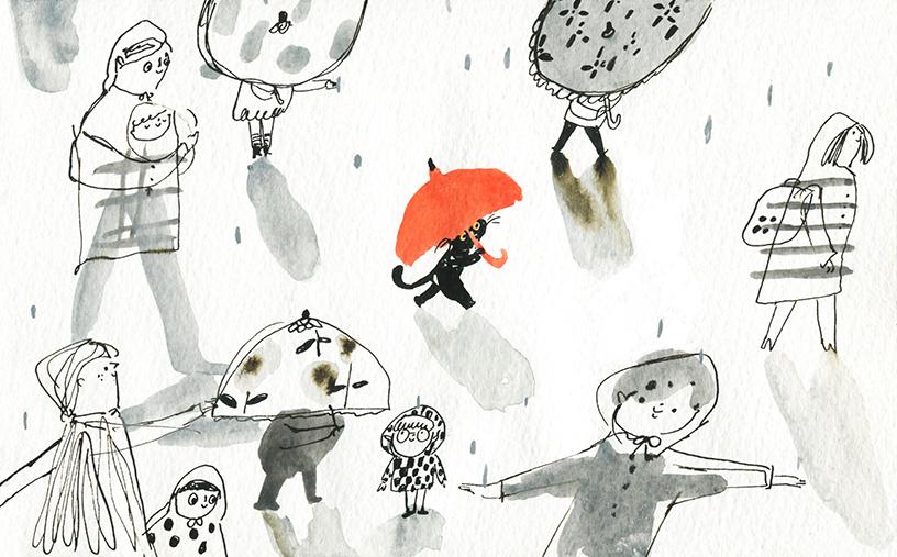 GirlsclubAsia-Illustrator-Cindy_Wume-rainy day, 2018