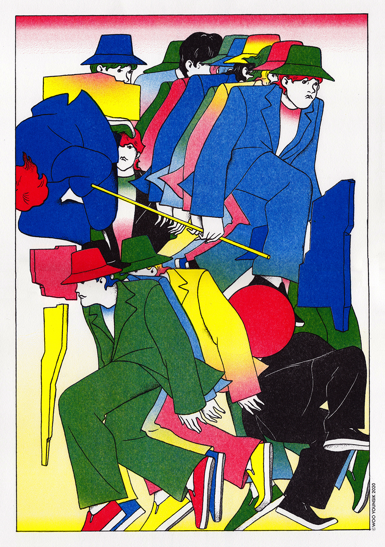 GirlsclubAsia-Illustrator-Younsik Woo-07-Self-reference_Risograph_2020