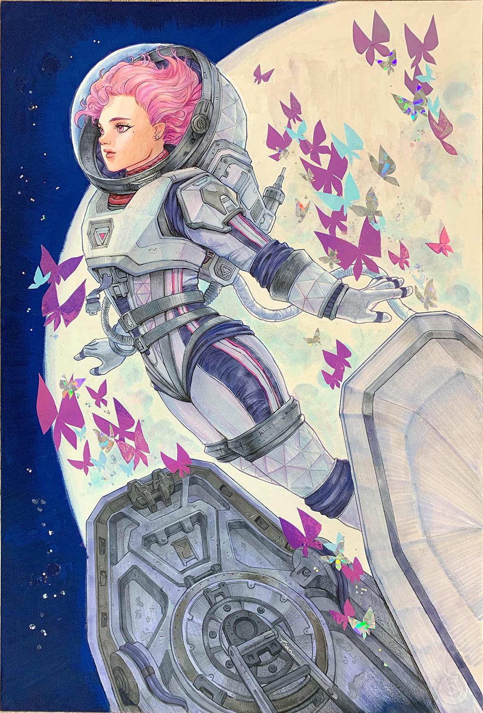 GirlsclubAsia-Artist-Yangtian Li-fly me to the moon S