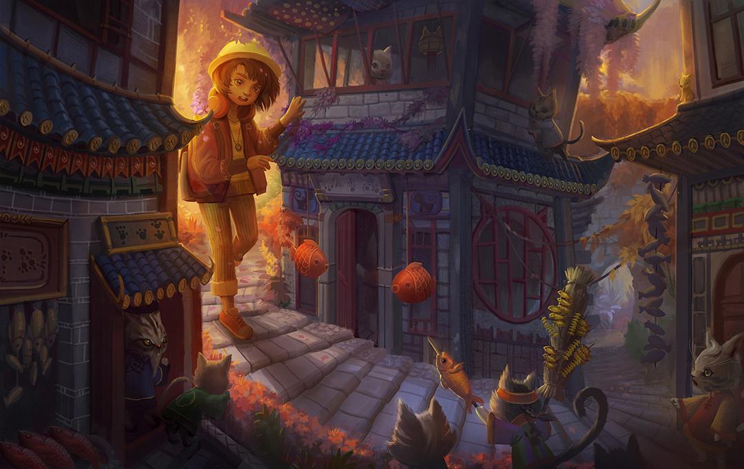 GirlsclubAsia-Artist-Yangtian_Li_Cat town